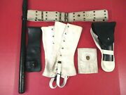 Vietnam Us Army Mp Military Police Leather Holster Belt And Accessory Set - Nice 3