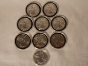 Lot Of 9 American Silver Eagle 1 Oz Coins5-2011 198719881989 2012 One Ea.