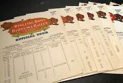 1946 Ringling Bros Route Cards Complete Set Of 13, Circus Is Coming To Your Town