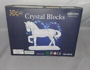 3d Clear Crystal Blocks 100 Pc Puzzle New Diy Horse + Free Shipping