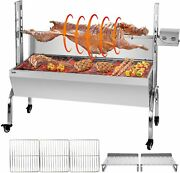 Rotisserie Grill Roaster Stainless Steel Bbq Lamb Charcoal Spit Roaster Grill