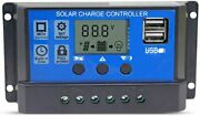 Solar Charge Controller 12v / 24v 20a Pwm Lcd Screen Regulator Panel With Usb