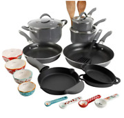 The Pioneer Woman Frontier Speckle Gray 24-piece Cookware Combo Set
