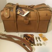 Hartmann 4700 Belt C3 Leather Shoulder Duffel Luggage 3 Zip Carry On New W Tags