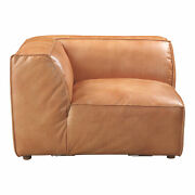Moeand039s Home Scandinavian Luxe Corner Chair With Brown Finish Qn-1021-40