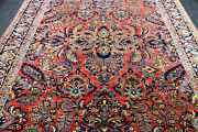 9x11 1940and039ss Museum Antique Hand Knotted Vegetable Dye Wool Saroukk Farahann Rug