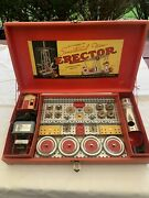 C1938 Ac Gilbert Erector Set 7 1/2 Engineerand039s Set Organized And Appears Complete