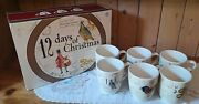 6 Williams Sonoma 12 Days Of Christmas Mugs Two Sided
