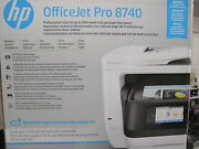 Hp Officejet Pro 8740 All-in-one Color Inkjet Printer In Sealed Retail Box