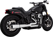 Vance And Hines Chrome Megaphone Pro Pipe Exhaust For 18-19 Harley Softail Dyna