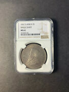 South Africa Kruger Silver 5 Shillings 1892 Single Shaft Uncirculated Ngc Ms61