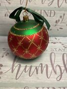 Waterford Ornament Nostalgic Collection Limited Series Diamond Cut Red/green