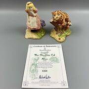 Beswick Alice Lc2 The Cheshire Cat Lc3 Figurines 1268/2500 1999 Royal Doulton
