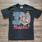 Vintage 80andrsquos Harley Davidson Best Of The Breed Shirt Speed Limit 70 Large 1987