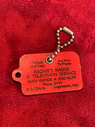 Vintage Coin Key Chain Scraper, Archie's Radio And Tv Service In Logansport, In.