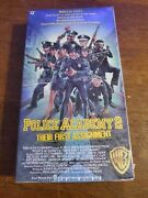 Rare Factory Sealed Police Academy 2 Vhs, 1987