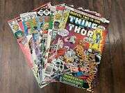 Marvel Two-in-one 22 24 31-35 88 1974 Lot Of 8 The Thing Bronze Age Marvel