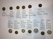 Huge Lot Of 13 Rare Collector Coins Wheat Pennies/quarters/nickels/1938-1967💰