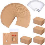 500 Pack Earring Cards - Earring Holder Cards With 500 Pcs Bags Earring Display