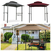 8'x5' Outdoor Barbecue Grill Gazebo Canopy Tent Patio Bbq Shelter W/ Led Light