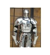 Antique Medieval Knight Wearable Full Suit Of Armor Collectible Armour Costume