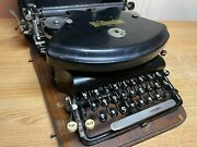 1897-1898 Antique Wellington Model 1 Typewriter Working W New Ink And Case