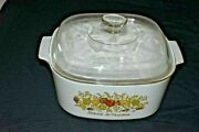 Vintage Corning Pyrex Spice Of Life 5 Qt Casserole And Lid L Echalote Usa Euc