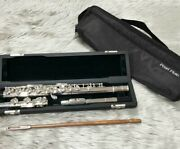 Pearl Flute Pf-665e Genuine Case Case Cover Cleaning Rod Musical Instrument Used