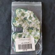 Longaberger Lots Of Luck Basket Liner, Over The Edge, New