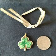 Longaberger 1999 Lots Of Luck Basket Tie-on, New, Green And Gold Design
