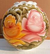 Vintage Gone With The Wind Lamp Shade Painted Roses Plz C Description