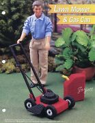 Lawn Mower And Gas Can Fits Barbie Dolls Annieand039s Plastic Canvas Pattern Leaflet