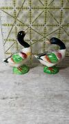 Geese Salt And Pepper Occupied Japan With Original Cork Excellent