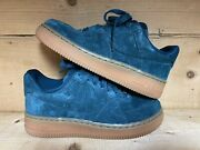 Nike Air Force 1 Low Suede Andlsquoteal Gumandrsquo 749263-301 Size 5 Women