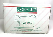 Corelle By Corning Winter Holly Gravy Boat And Drip Plate Discontinued Christmas