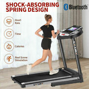 3.25hp Foldable Treadmill With Wifi Connection For Walking And Jogging Workout