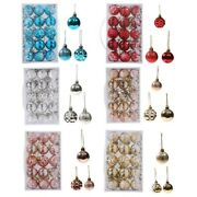 15pcs Christmas Tree Decorations Hanging Balls Bauble Xmas Home Party Ornaments