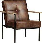 Stanley Arm Chair Square Tube Frame Weathered Oak Steel Jute Upholstery