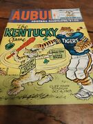 1969 Auburn University Tigers Football Media Guide With Ticket Stub From 10/4/69