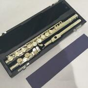 Sankyo Etude Model C / C Flute Head Tube Silver Music Instrument With Case Used