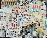 Huge Lot Of 100's Of Vintage Sewing Buttons - Nos New And Used