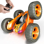 Tecnock Remote Control Car For Kids360 Anddeg Rotating Double Sided Flip Rc Stunt Ca