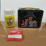 Thermos The Muppets Pigs In Space Vintage Lunch Box1977 Jim Henson W/ Thermos