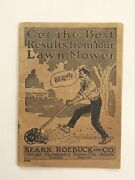 Vintage Sears Roebuck Lawn Mower Ad Booklet Chicago Il Home Garden Grass Cut