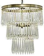 Noir Metal And Glass Venice Chandelier With Antique Brass Finish Lamp566mb