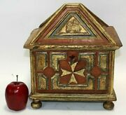 Antique Reliquary From 18th Century Gift A True Cross And Relic Of Saint Helena