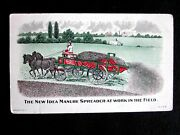 1890 Coldwater Ohio New Idea Manure Spreader Advertising Victorian Trade Card