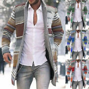 Menand039s Fashion Long Sleeve Outwear Jacket Tops Warm Casual Coat Cardigan Jumper