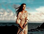 Viking Pagan Cottagecore Dress Wiccan Maxi Robe Cosplay Smocked Waist Style G740