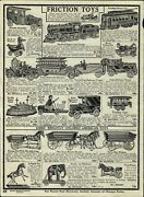 1919 Paper Ad Friction Toy Train Tin Trolley Car Gibband039s Pull Toys Cast Iron